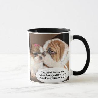 Englische Bulldoggen-Aufmerksamkeit! Tasse