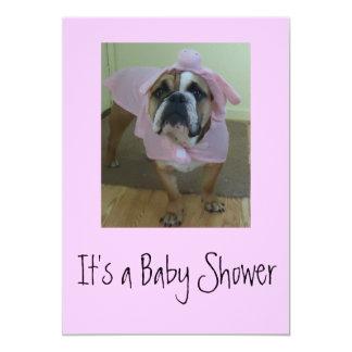 Englische Bulldoggen-Babyparty-Einladungen 12,7 X 17,8 Cm Einladungskarte