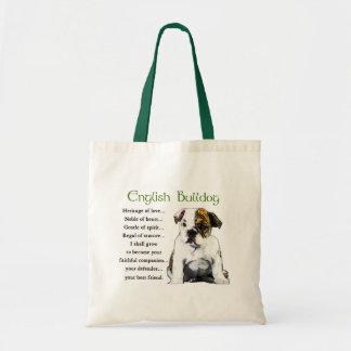 Englische Bulldoggen-Geschenke Budget Stoffbeutel
