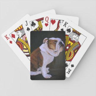 Englische Bulldoggen-Hundekunst-Spielkarten Spielkarten