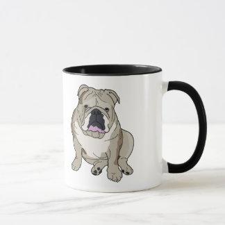 Englische Bulldoggen-Illustration auf Kaffee-Tasse Tasse