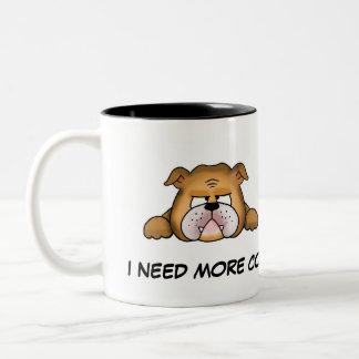 Englische Bulldoggen-Kaffee-Tasse Zweifarbige Tasse