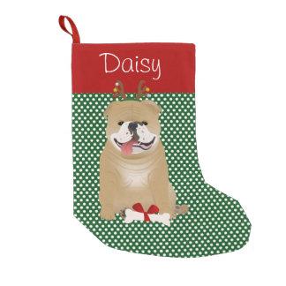 Englische Bulldoggen-Kitz-Farbe personalisiert Kleiner Weihnachtsstrumpf