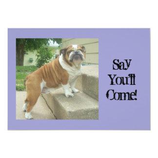 Englische Bulldoggen-Party Einladungen 12,7 X 17,8 Cm Einladungskarte