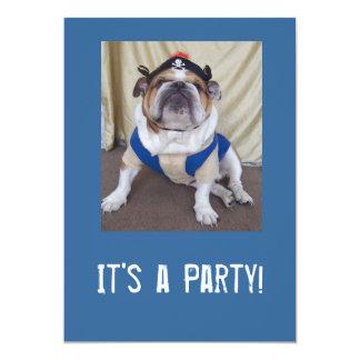 Englische Bulldoggen-Party Einladungen