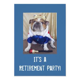 Englische Bulldoggen-Ruhestands-Party Einladungen