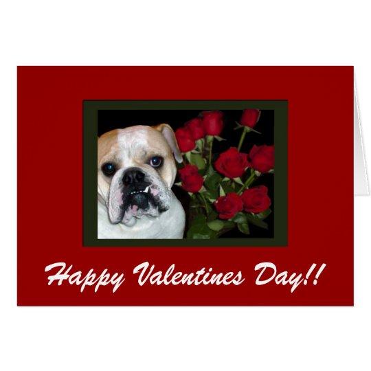 Englische Bulldoggen Valentinstag Karte Karte