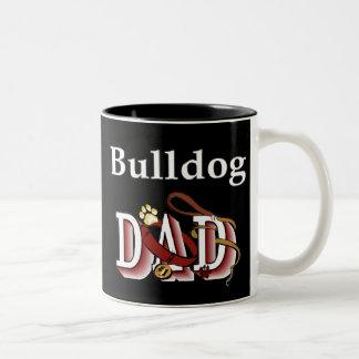Englische Bulldoggen-Vati-Tasse Zweifarbige Tasse