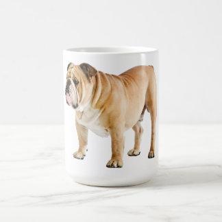 Englische Bulldoggen-Welpen-Hundeblaue Kaffeetasse