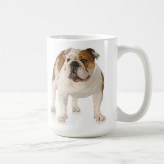 Englische Bulldoggen-Welpen-Hunderot-Liebe Kaffeetasse