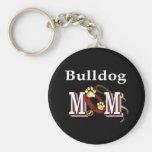 Englische Bulldoggenmamma Keychain Schlüsselband
