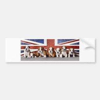 Englische Bulldoggenwelpen Autoaufkleber