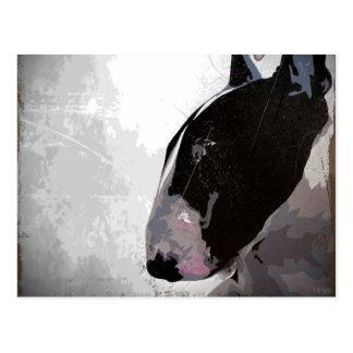 Englische Bullterrier-Kunst-Postkarte Postkarte