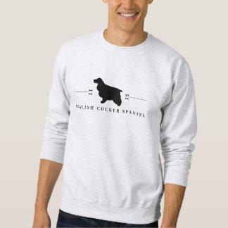 Englische Cockerspaniel-Silhouette -1- Sweatshirt