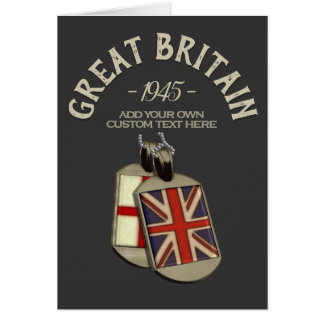 Englische Erkennungsmarken Großbritanniens Karte