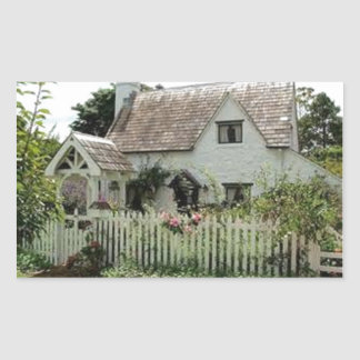 Englische Hütte Rechteckiger Aufkleber