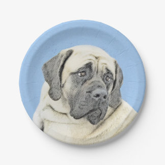 Englische Malerei des Mastiff-(Kitz) - Pappteller