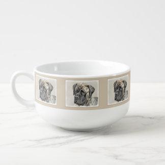 Englische Mastiff-(Brindle) Malerei - Große Suppentasse