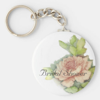 Englische Rose auf einem Schlüssel Kette-Fertigen  Standard Runder Schlüsselanhänger