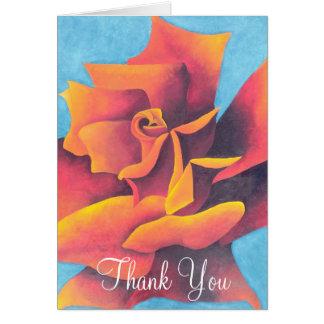 Englische Rose danken Ihnen Karte