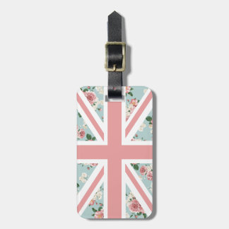 Englische Rosen-Gewerkschafts-Jack-Flagge Gepäckanhänger