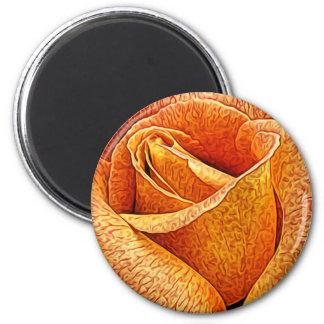 Englische RosenmakroblumenBlume nahe hohe Runder Magnet 5,1 Cm