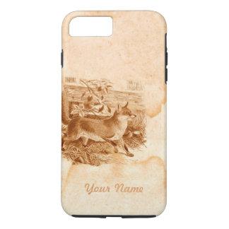 Englische rustikale Land-Seite Fox Brown iPhone 8 Plus/7 Plus Hülle