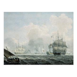 Englische Schiffe des Krieges Postkarte
