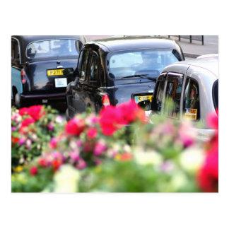 Englische schwarze Taxi-Postkarte Postkarte