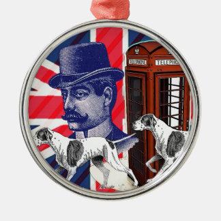 Englische Silbernes Ornament