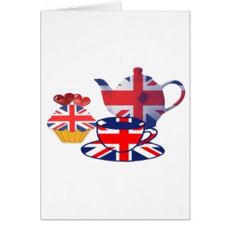 Englische Tee-Zeit, Karte