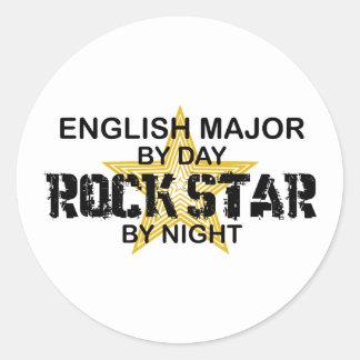 Englischer bedeutender Rockstar Runder Aufkleber