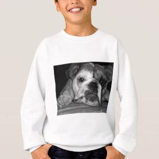 Englischer Bulldoggen-Schwarzweiss-Welpe Sweatshirt
