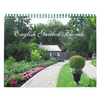 Englischer Garten-Blumenkalender Kalender