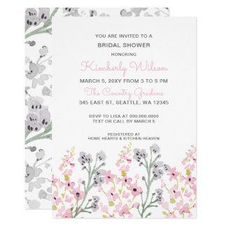 englischer Garten Wedding BlumenBrautparty Karte