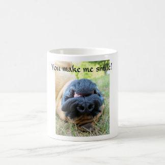 Englischer lächelnder Mastiffhund - Schale Kaffeetasse