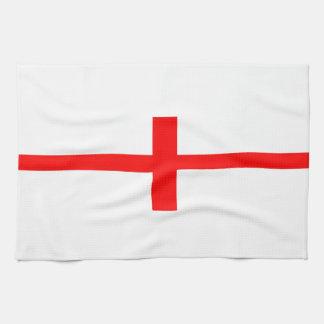 englischer Namenstext des langen Symbols Geschirrtuch