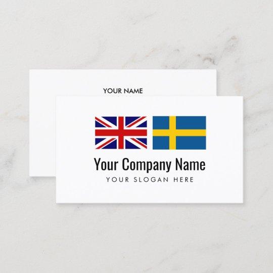 Englischer Schwedischer übersetzer Der Visitenkarte Zazzle De