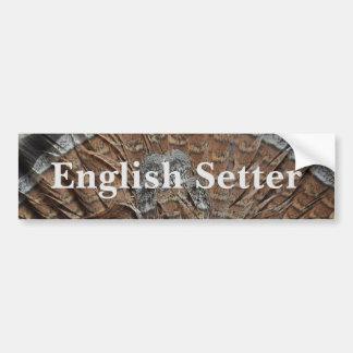 Englischer Setzer Autoaufkleber
