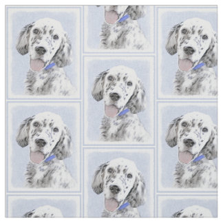 Englischer Setzer blaue Belton Malerei-Hundekunst Stoff