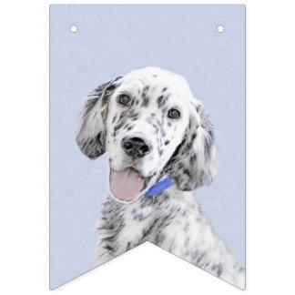 Englischer Setzer blaue Belton Malerei-Hundekunst Wimpelketten