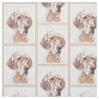 Englischer Setzer orange Belton Malerei-Hundekunst Stoff