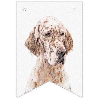 Englischer Setzer orange Belton Malerei-Hundekunst Wimpelketten