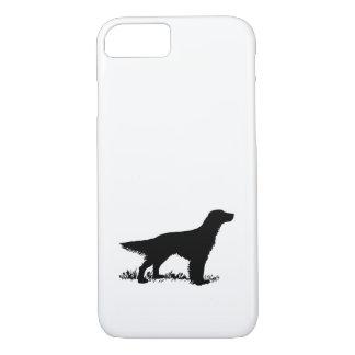 Englischer Setzer-Silhouette iPhone 8/7 Hülle