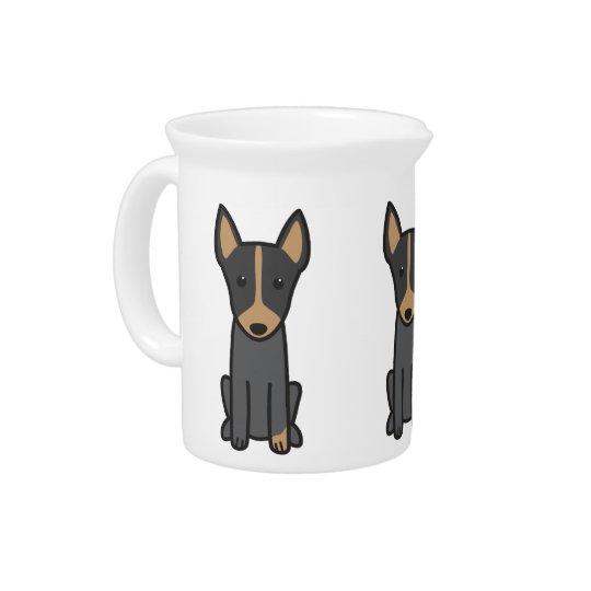 Englischer Spielzeug-Terrier-HundeCartoon Getränke Pitcher