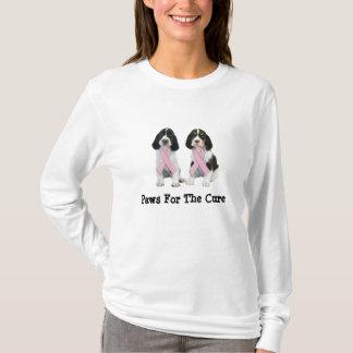 Englischer Springerspaniel-Brustkrebs-Shirt T-Shirt