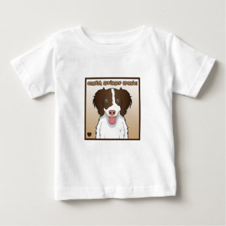 Englischer Springerspaniel-Cartoon Baby T-shirt
