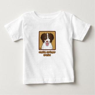 Englischer Springerspaniel-Cartoon-Liebe Baby T-shirt