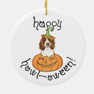 Englischer SpringerSpaniel Halloweens Keramik Ornament