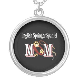 Englischer Springerspaniel-Mamma-Geschenke Versilberte Kette